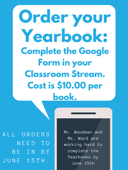 Yearbook Orders (Cash Online Only)